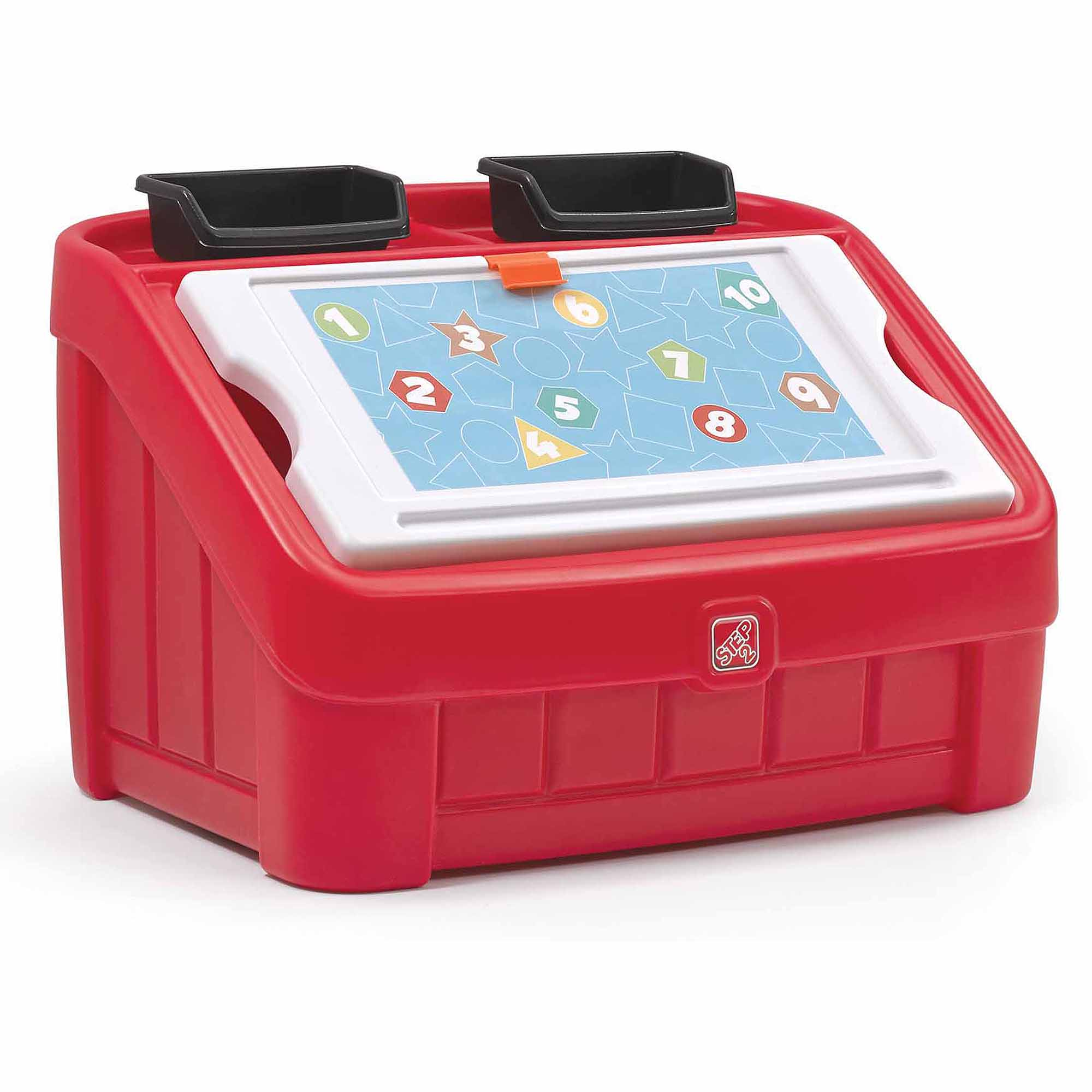 Step2 2-in-1 Art Toy Box, Red