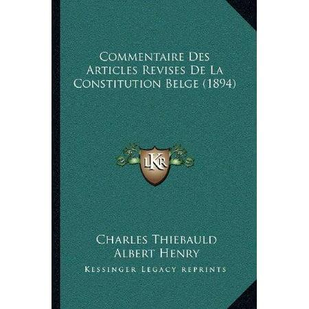 Commentaire Des Articles Revises de La Constitution Belge (1894) - image 1 of 1