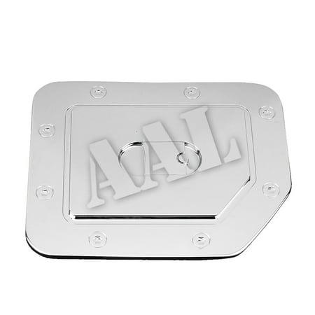AAL Premium Gas Tank Fuel Cap Door Chrome Cover For 2004 2005 2006 2007 2008 2009 2010 2011 2012 2013 2014 2015 Nissan Titan