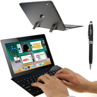 EEEKit Wireless Bluetooth Retractable Stand Keyboard+Stylus for iPad Pro Tablet