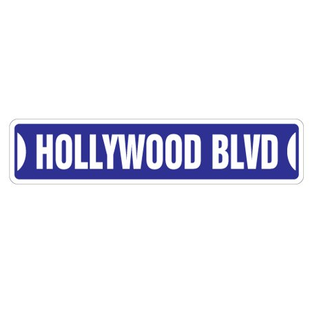 HOLLYWOOD BLVD Street Sign california boulevard CA tinsel town | Indoor/Outdoor |  24