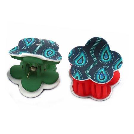 Women Plastic Hair Claw Clip Clamp Barrette Head Decoration Assorted Color 4pcs - image 1 de 5