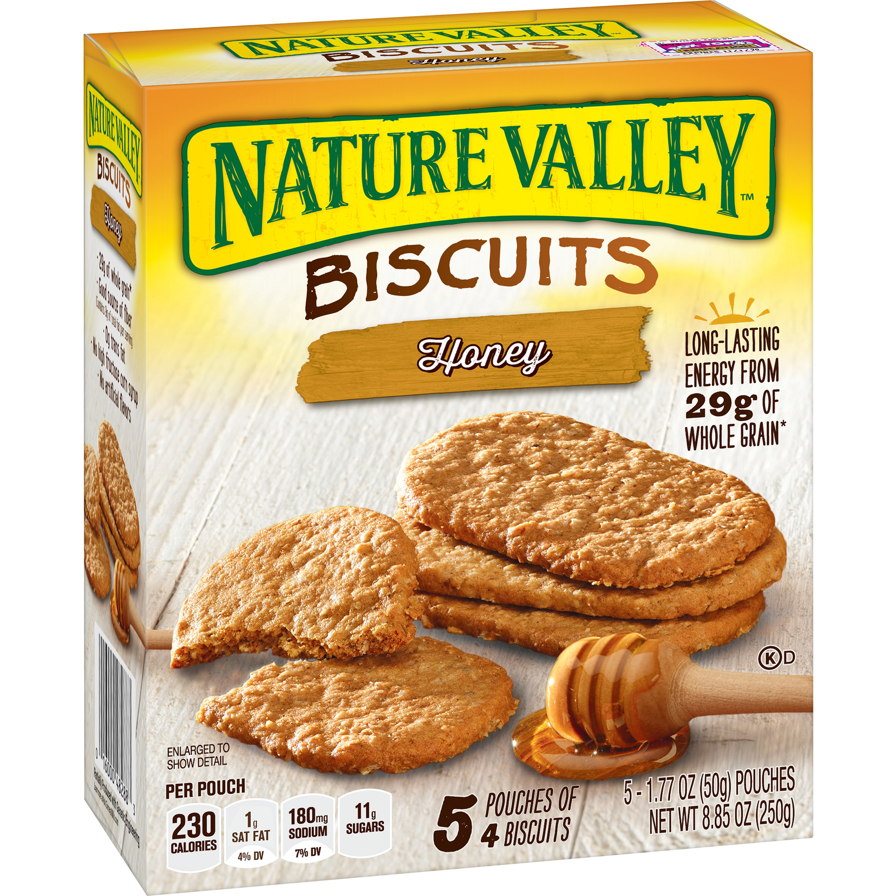 Nature Valley Breakfast Biscuits, Honey, 5 Pouches, 4-Bars Per Pouch