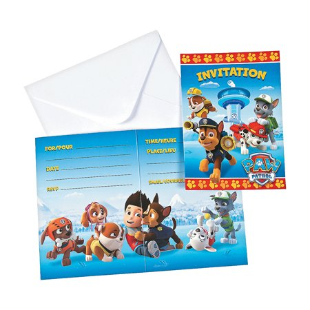 Paw Patrol Invites for Birthday - Party Supplies - Licensed Tableware - Licensed Invitations - Birthday - 8 Pieces](Halloween Birthday Invitation Verses)