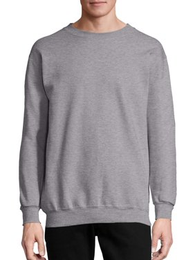 Hanes Men's and Big Men's Ultimate Cotton Heavyweight Fleece Sweatshirt, up to Size 3XL