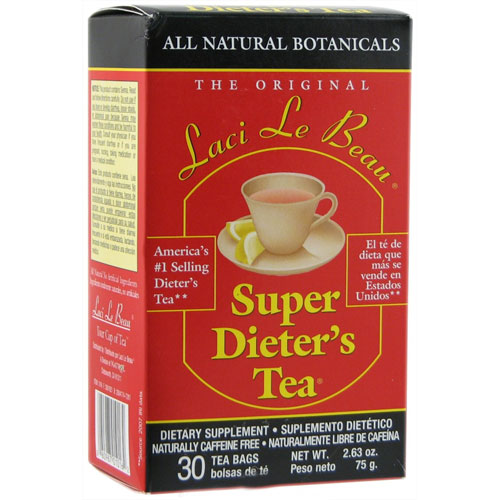 Laci Le Beau Super Dieters Tea All Natural Botanicals Caffeine Free Tea Bags - 30 Ea