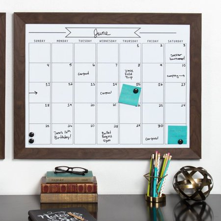Union Rustic Framed Monthly Write On Calendar Magnetic Wall Mounted Dry Erase Board