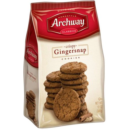 (3 Pack) Archway Crispy Gingersnap Cookies, 12 Oz (Best Ginger Snaps)