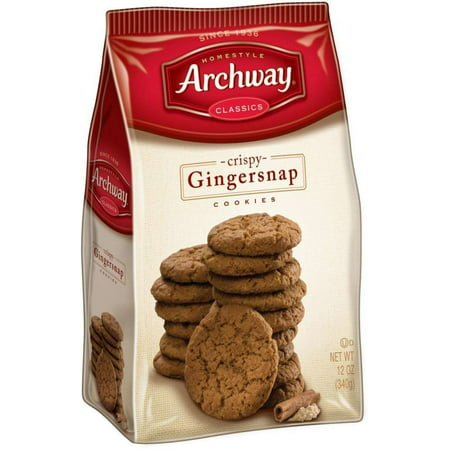 (3 Pack) Archway Crispy Gingersnap Cookies, 12 Oz