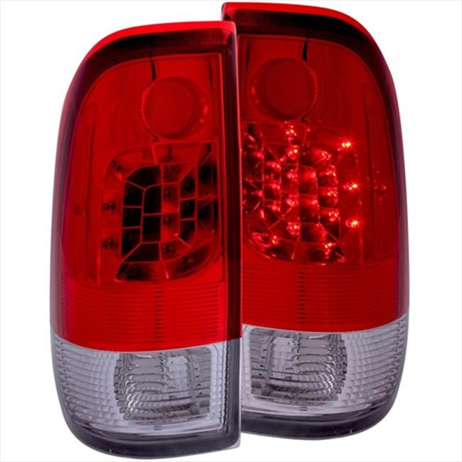 ANZO 311025 LED Tail Lights, Red And Clear