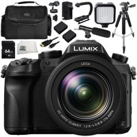 "Panasonic Lumix DMC-FZ2500 Digital Camera Bundle 12PC Kit - Includes 64GB SD Memory Card, 2 Replacement Batteries, Carrying Case, 57"" Tripod, MORE"