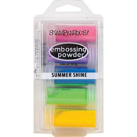 Tsukineko Embossing Powder - Stampendous Embossing Powder, 5pk, .86 oz, Summer Shine