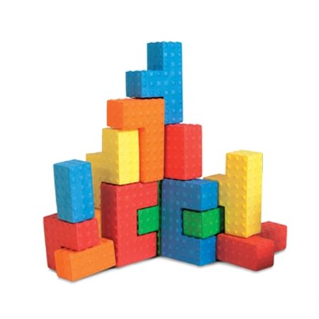 Foam Toy Blocks (Edushape Easy-grip Soft Foam Sensory Puzzle Blocks, 18)