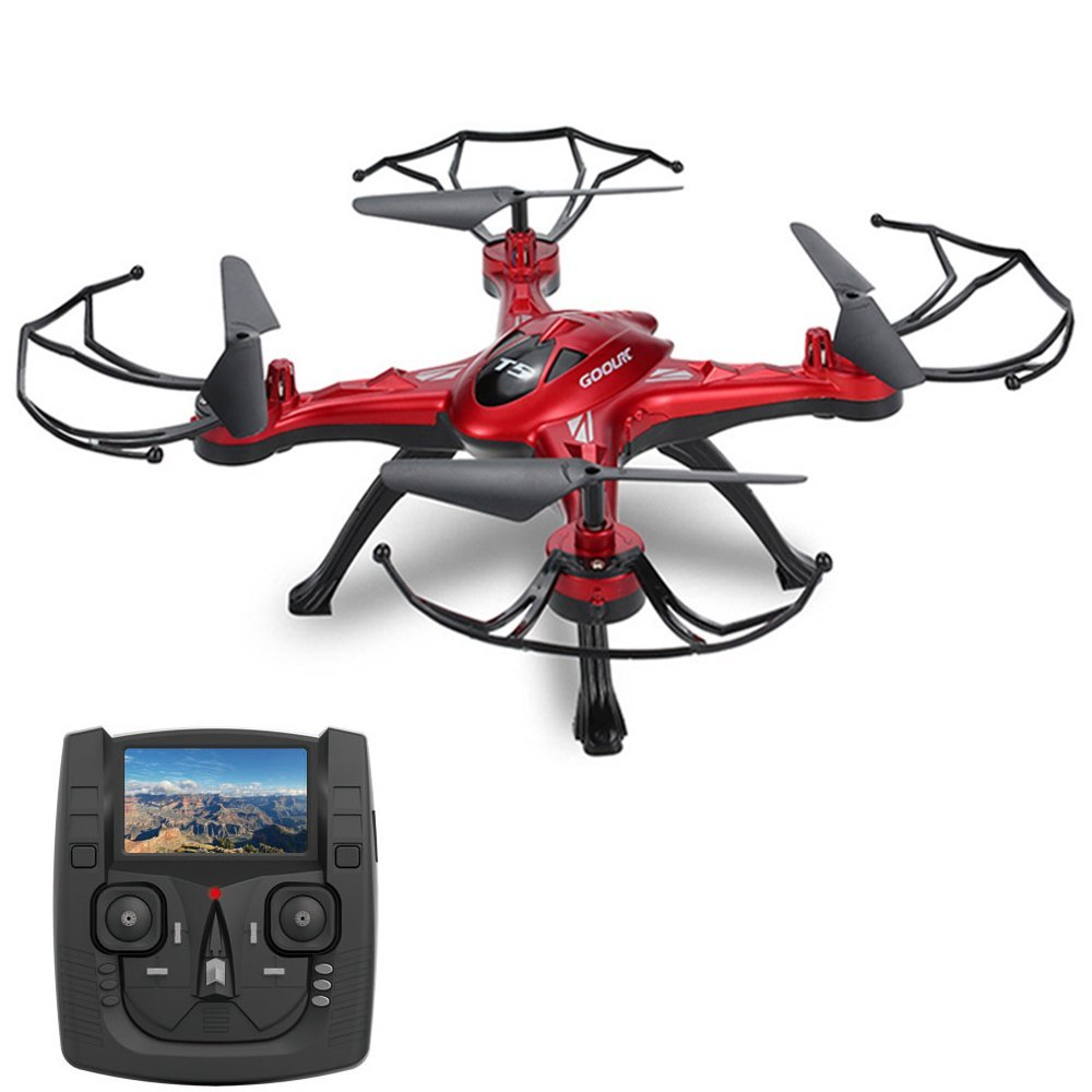 GoolRC T5G 5.8G FPV Drone with 2.0MP HD Camera Live Video,Headless Mode & One Key Return &... by GoolRC
