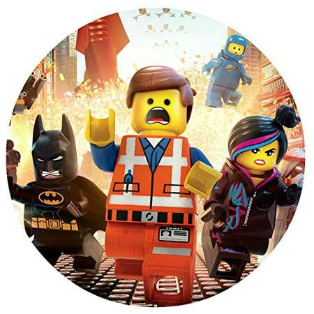 Personalized Round Bed - Lego Movie Image Photo Cake Topper Sheet Personalized Custom Customized Birthday Party - 8