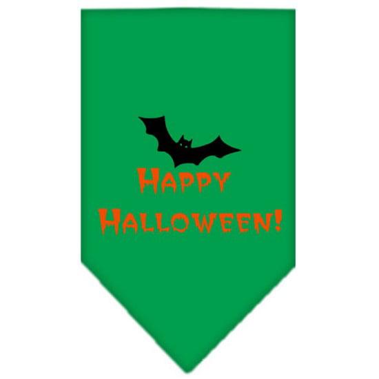 Image of Mirage 66-13-04 LGEG Happy Halloween Pet Bandana Emerald Green Large