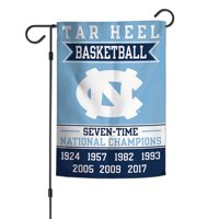 "North Carolina Tar Heels WinCraft 12"" x 18"" Championship Years Double-Sided Garden Flag"