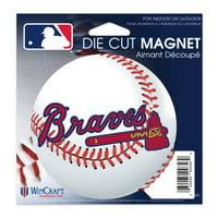 """Atlanta Braves WinCraft 5"""" Die-Cut Car Magnet"""