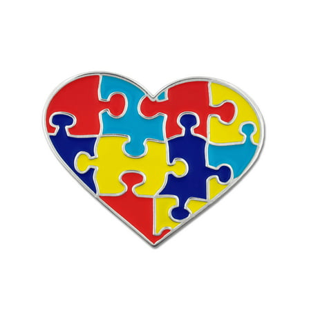PinMart's Autism Awareness Heart Shaped Puzzle 1