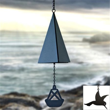 North Country Wind Bells  Inc. 109.5016 Bass Harbor Bell with hummingbird wind catcher - image 1 of 1