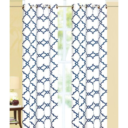 Geometric Modern Print Insulated 100% Thermal Blackout Window Grommet Curtain Panel - 95