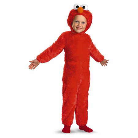 Elmo Plush Deluxe Child Costume - Size 4-6X](Elmo Costume Rental)