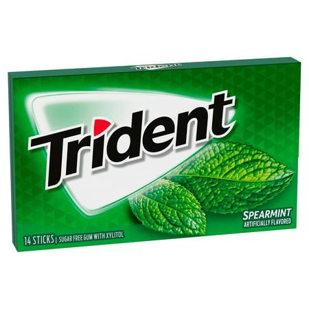 Trident Spearmint Sugar Free Gum, 14 Pieces