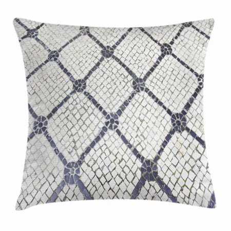 Cobblestone Throw Pillow Cushion Cover, Urban City Traditional Blurred Portuguese Pavement in Lisbon, Decorative Square Accent Pillow Case, 20 X 20 Inches, Charcoal Grey and Off White, by Ambesonne - Party City 20 Off Coupon