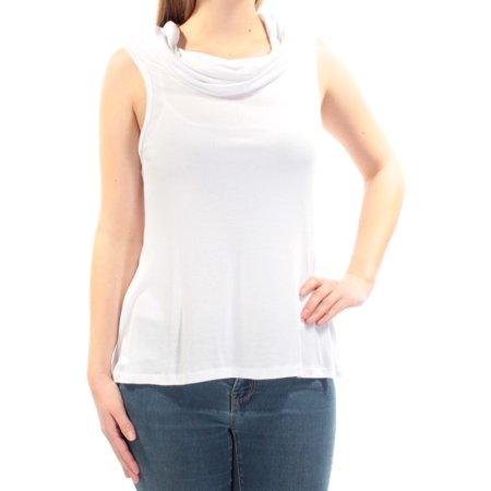 ULTRA FLIRT Womens White Sleeveless Cowl Neck Top  Size: M
