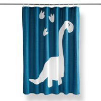 "Your Zone Dinosaur Paw Print Fabric Shower Curtain, 72"" x 72"", Multiple Colors"