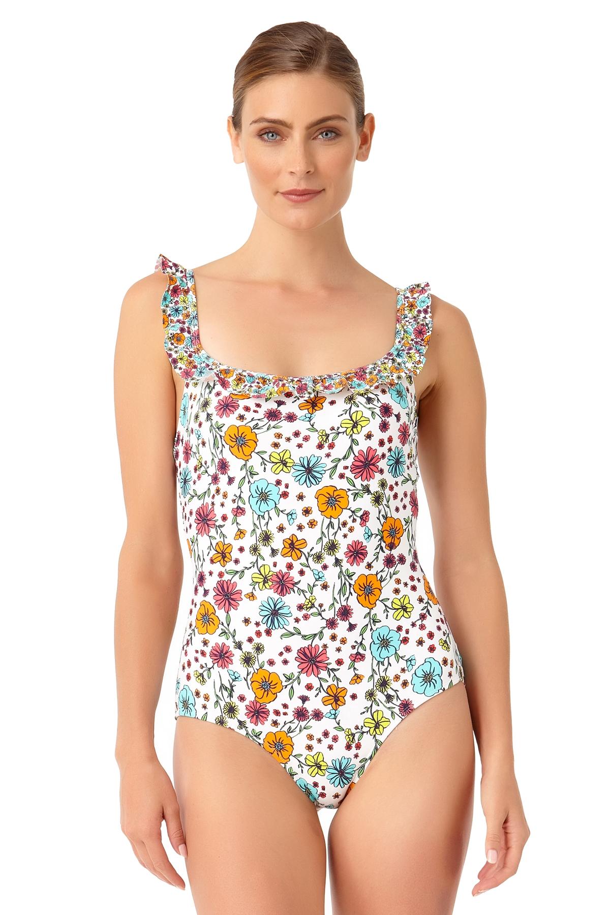 Anne Cole Women's Lazy Dazey Flounce Lingerie Maillot One Piece Swimsuit