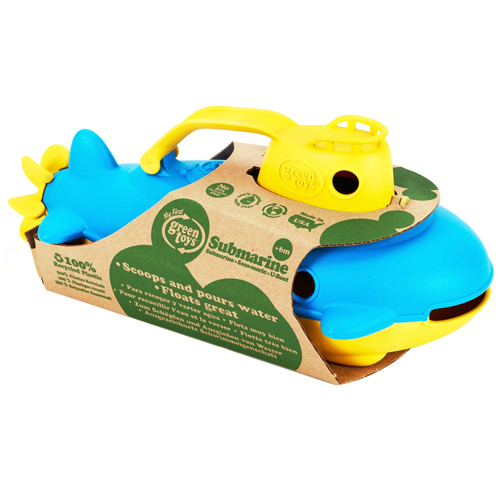The Original Green Toys Submarine For 6 Months Plus, Yellow - 1 Ea