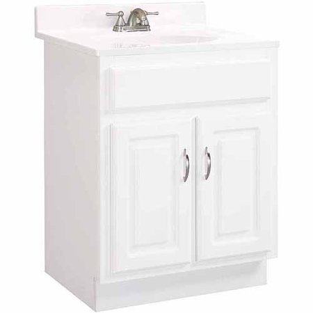 Design House 531251 Concord White Gloss Vanity Cabinet With 2 Doors 24 X 18 X 30