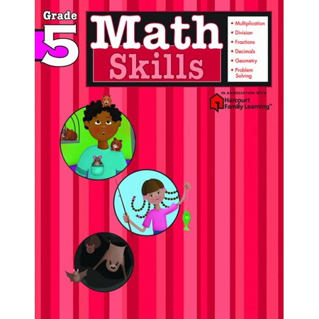 Math Skills: Grade 5 (Flash Kids Harcourt Family Learning)