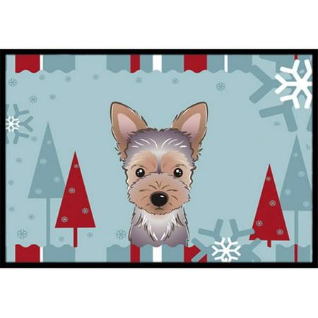 Carolines Treasures BB1728JMAT Winter Holiday Yorkie Puppy Indoor & Outdoor Mat, 24 x 36 in. - image 1 de 1