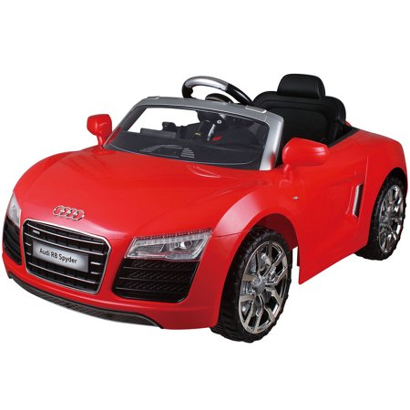Costway Red Audi Kids Electric Ride On Car With Rc Remote