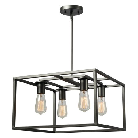 Kenroy Home Cubed Graphite 4 Light Chandelier