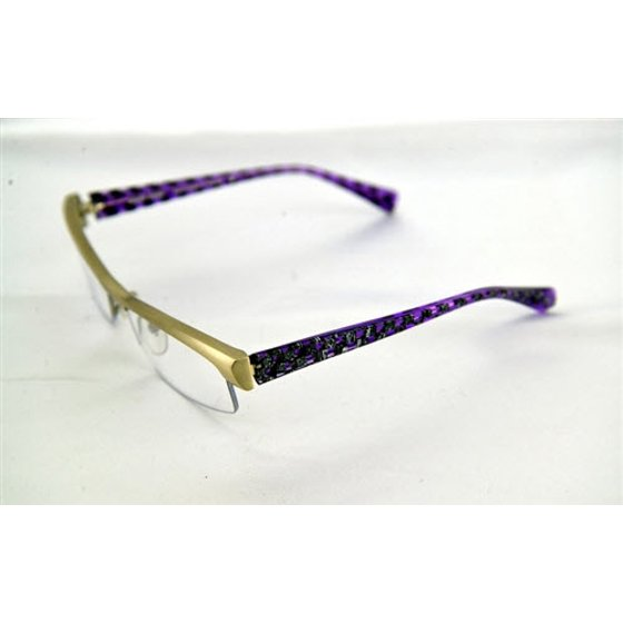 17e70137ca952 Like New Alain Mikli AL 666 11 Semi Matte Silver   Purple Semi Rimless  Eyeglasses 54mm - Walmart.com
