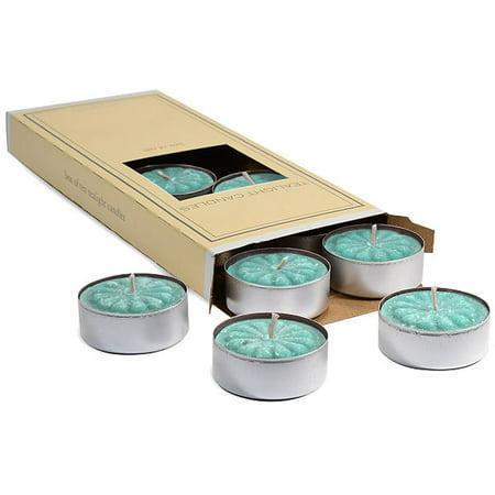 Cool Citrus Basil Tea Lights 10 candles per box 1.5 in. diameter x .63 in. tall (1.5 Cradle)