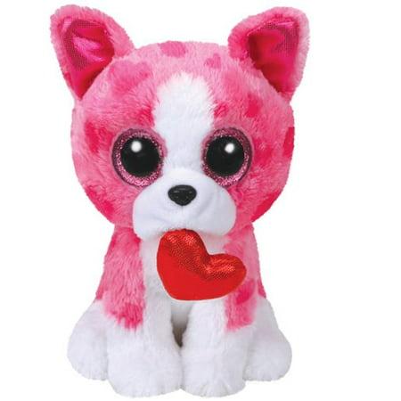 TY Valentines ROMEO Pink Dog Beanie Boos 6' Plush - Valentine Dog