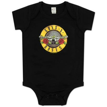 Infant: Guns N Roses - Bullet Logo Bodysuit Apparel Infant Bodysuit - (Guns N Roses Onesie)