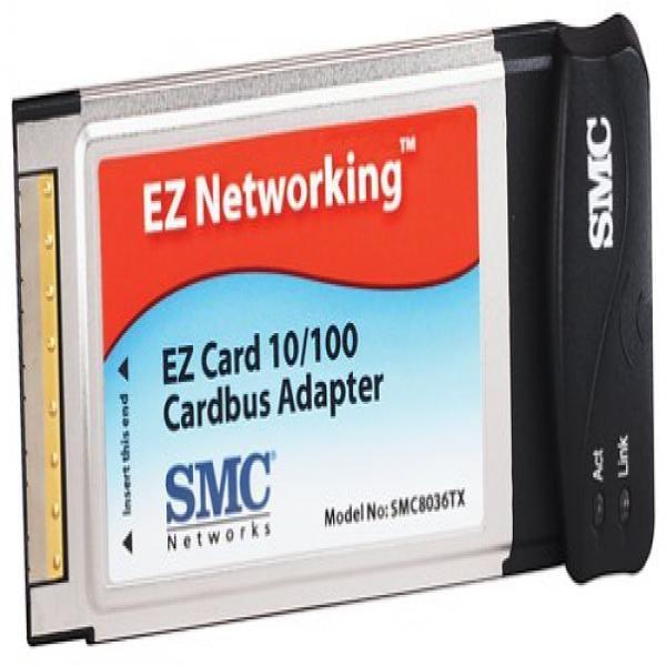 NEW SMC Networks EZ Card 10//100 Mbps Cardbus Adapter PCMCIA SMC8036TX