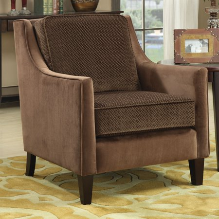 Coaster Basket-Weave Accent Chair, Brown