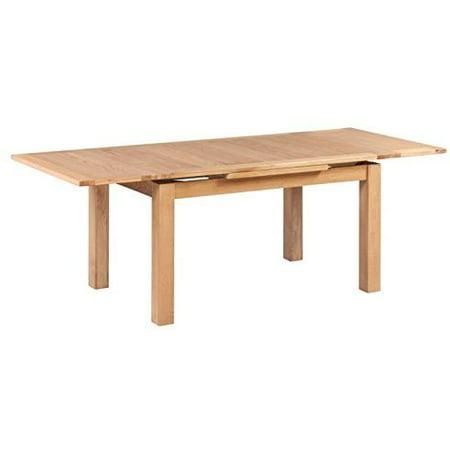 Trithi Furniture Portland American Solid Oak Rectangle Extendable Table  2800   Natural Oak