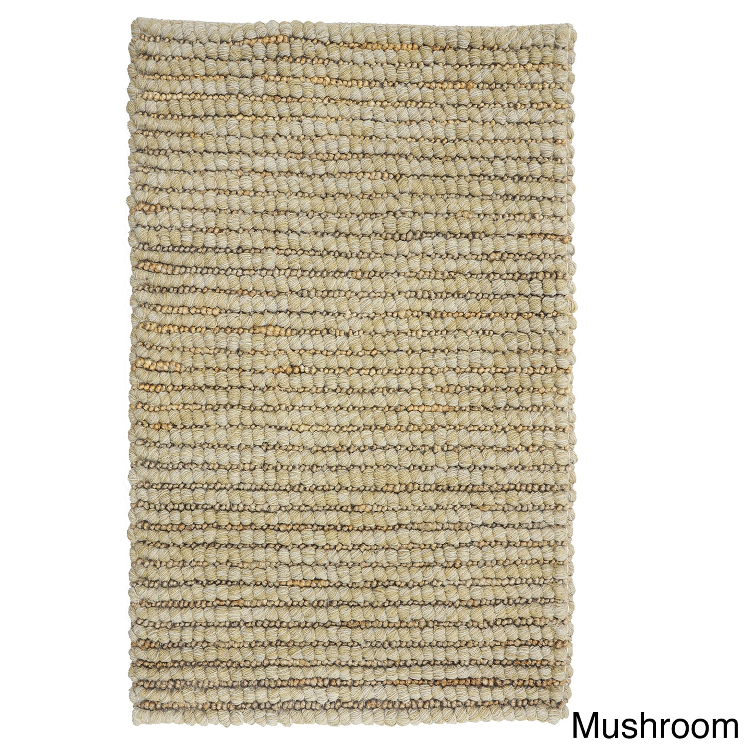 Kosas Home  Handwoven Santa Clarita Wool and Jute Grey Rug (5' x 8')