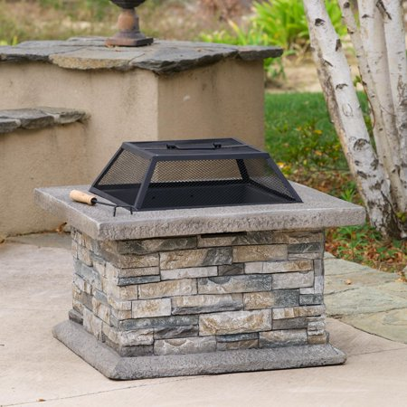 Noble House Kayden Outdoor Natural Stone Fire Pit