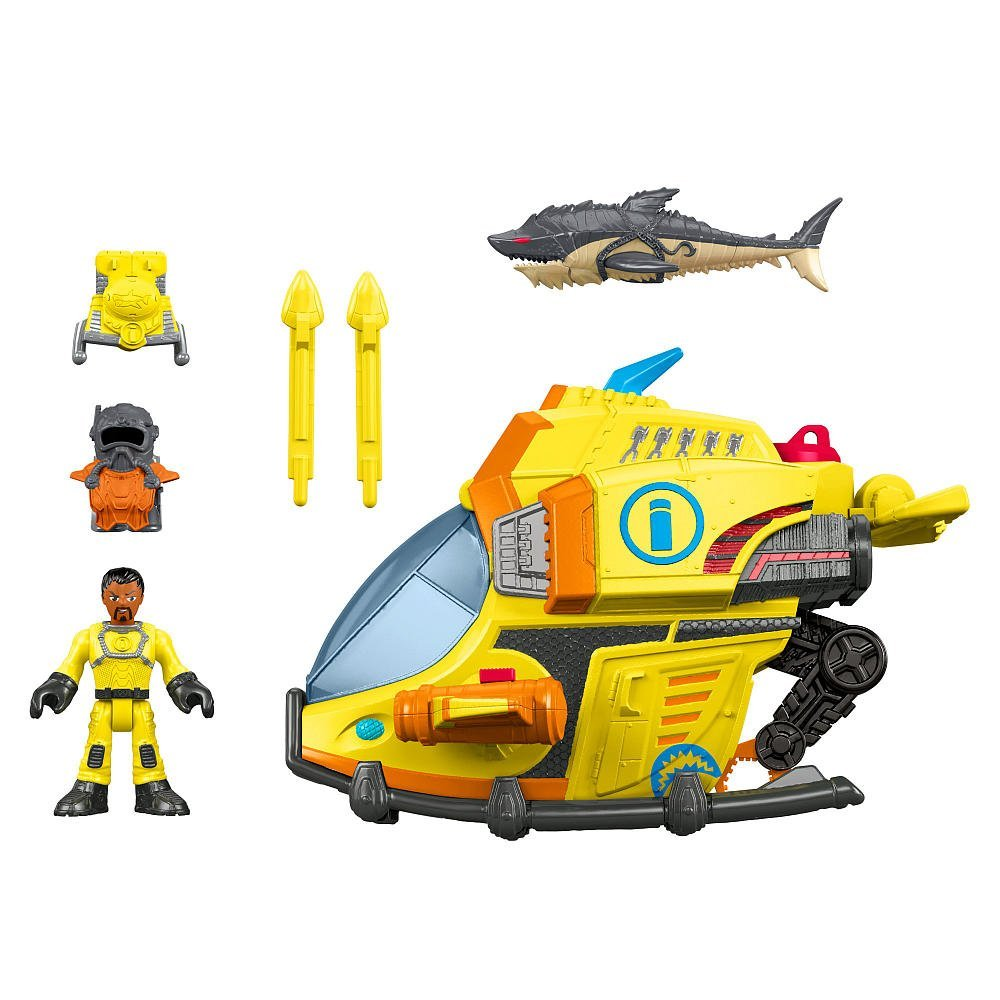 Fisher-Price Imaginext Deep Sea Submarine Play Set By Fis...