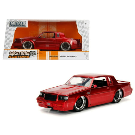 1987 Buick Grand National Candy Red 1/24 Diecast Model Car by Jada Buick Century Diecast Model