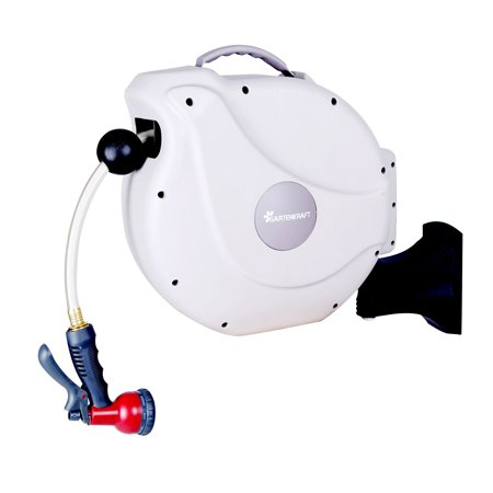 "Gartenkraft 5/8"" Nw Retractable Hose Reel with 20M/65' Hose"