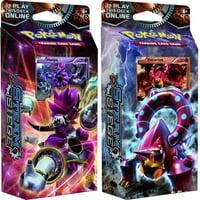 Pokemon Steam Siege Gears of Fire & Ring of Lightning Set of Both Theme Decks